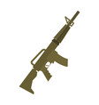rifle isolated machine gun on white background vector image vector image