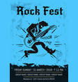 rock fest event announcement poster design vector image vector image