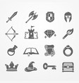 rpg pc game icons vector image
