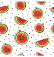seamless background pattern with watermelon vector image vector image