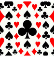Seamless poker pattern background vector image vector image