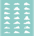 set cartoon clouds vector image vector image