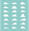 Set cartoon clouds
