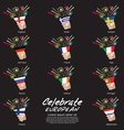 Set of Popper Party of European Continent vector image vector image