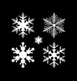 set of snowflake in modern style vector image vector image