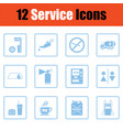 set of twelve petrol station icons vector image vector image
