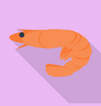 shrimp icon flat style vector image vector image