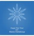 Snowflake symbol like blueprint drawing vector image vector image