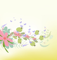 spring with Flower background Designs vector image vector image