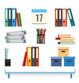 stationery accessories on the table vector image
