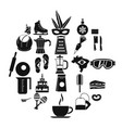 street food icons set simple style vector image vector image