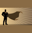 super businessman background vector image