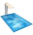 swiming pool vector image vector image