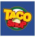 taco shop sticker design vector image vector image