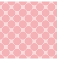 Tile pattern with polka dots on pink background