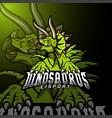 triceratops sport mascot logo design vector image vector image