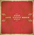 Vintage Valentines Day card with polka dots and vector image vector image