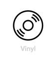 vinyl music icon vector image vector image