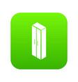 wardrobe icon green vector image vector image