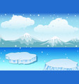 winter landscape with snow vector image