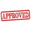 approved rubber stamp with red text isolated on vector image