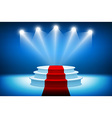 3d of Photorealistic Winner Podium Stage with Blue vector image