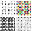 100 karaoke icons set variant vector image