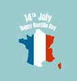 14th julyhappy bastille day background vector image vector image