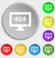 404 not found error icon sign Symbol on eight flat vector image
