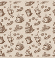 a retro seamless background for coffee theme vector image