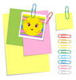 a set of colored office sticky and ordinary vector image