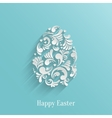 Abstract Background with Floral Easter Egg vector image