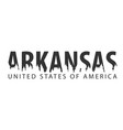 arkansas usa united states of america text or vector image vector image