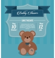 Baby Shower design teddy bear icon Blue vector image vector image
