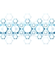 background of blue molecule structure vector image vector image