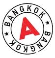 Bangkok stamp rubber grunge vector image vector image