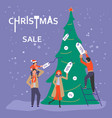 banner for christmas sale vector image vector image