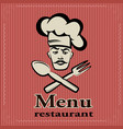 banner for restaurant and cafe bar cook w vector image vector image