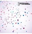 beautiful molecular structure vector image vector image