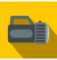 Black flashlight flat icon vector image vector image