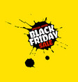 black friday sale grunge poster red special offer vector image vector image
