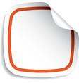 blank sticker vector image vector image