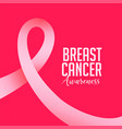 breast cancer october awareness month with pink vector image