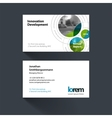 business card template with rounds circles vector image vector image