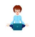 businesswoman female office worker or programmer vector image