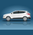 car template on white background compact vector image vector image