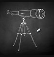 chalk drawn telescope vector image vector image