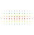 christian cross spectral halftone grid vector image vector image