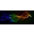 Colorful smoke and lights vector image