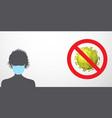 coronavirus warning vector image vector image